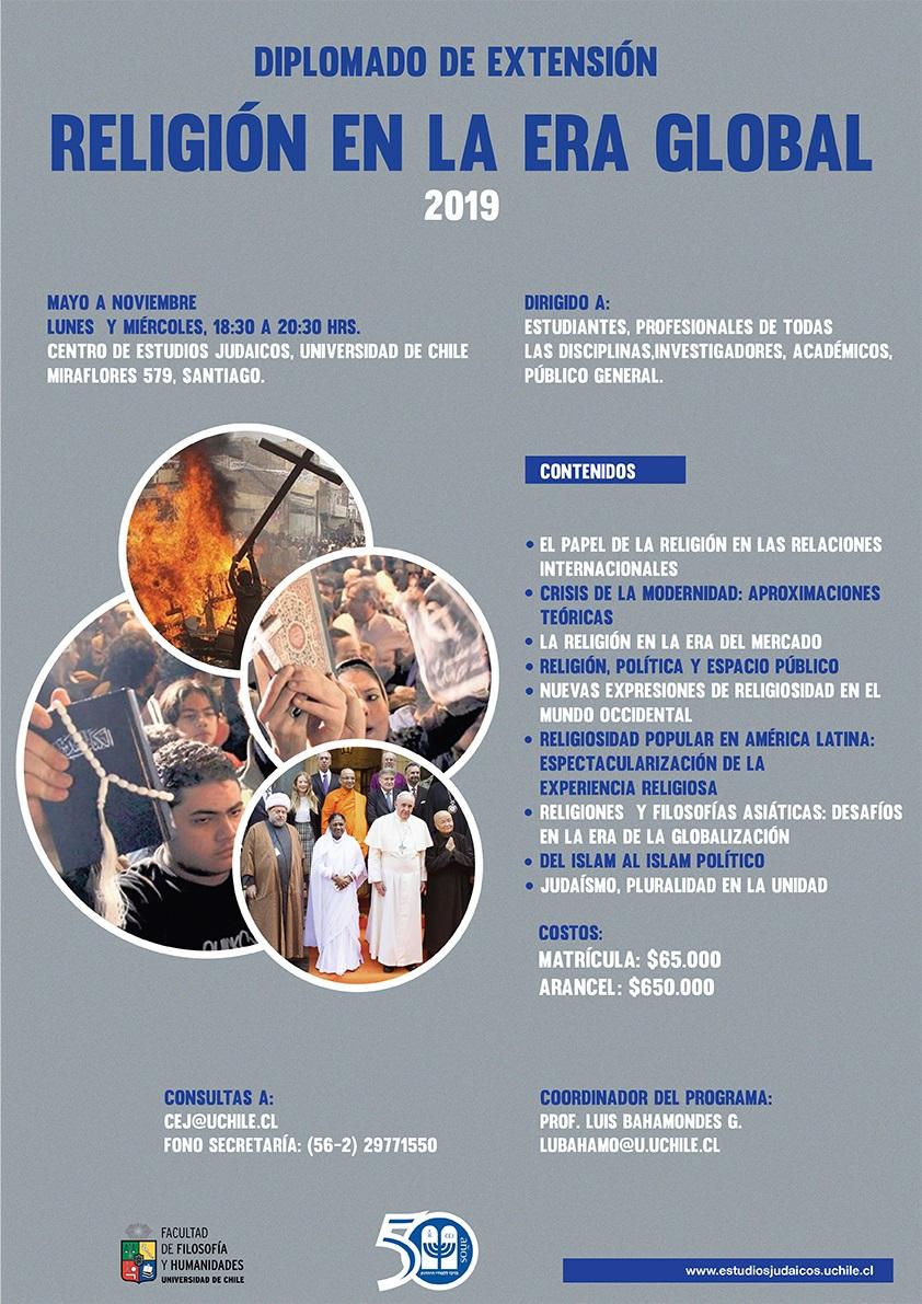 Diploma de Extensión Religión en la Era Global 2019