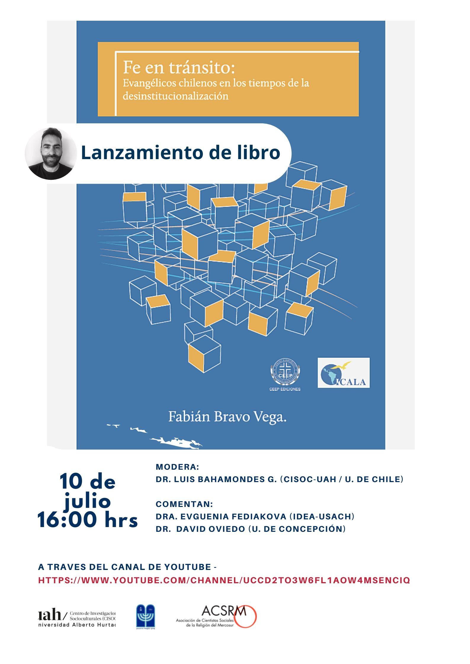 Afiche definitivo - Lanzamiento de Libro Fabián Bravo